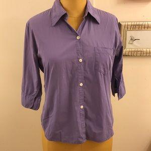 AT LAST & co Jeans wear button down cotton shirt